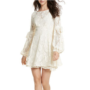 FREE PEOPLE Cream Rubi Lace Mini Dress XS